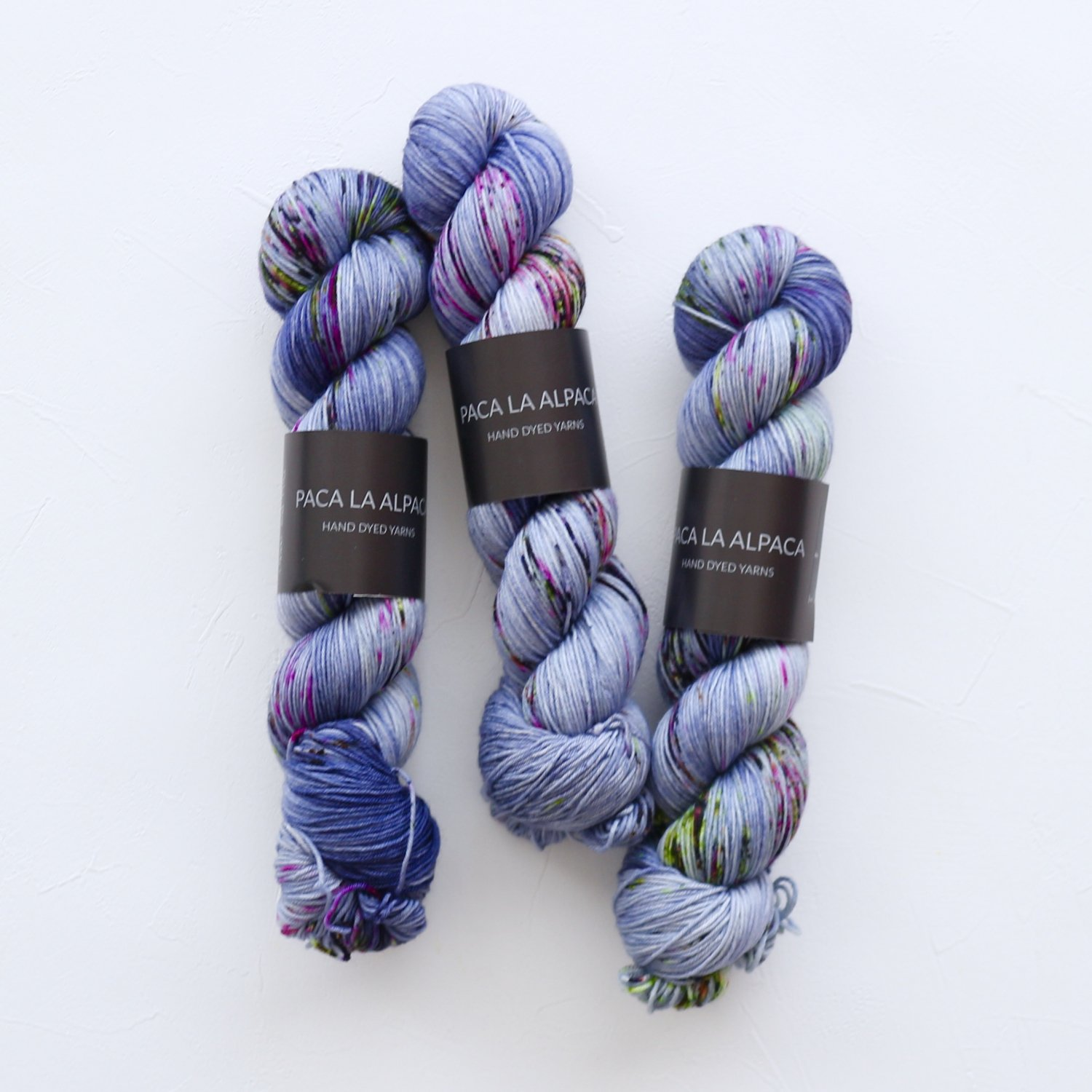【Paca La Alpaca】<br>Superwash Merino Sock 4Ply<br>Jeans and Pins