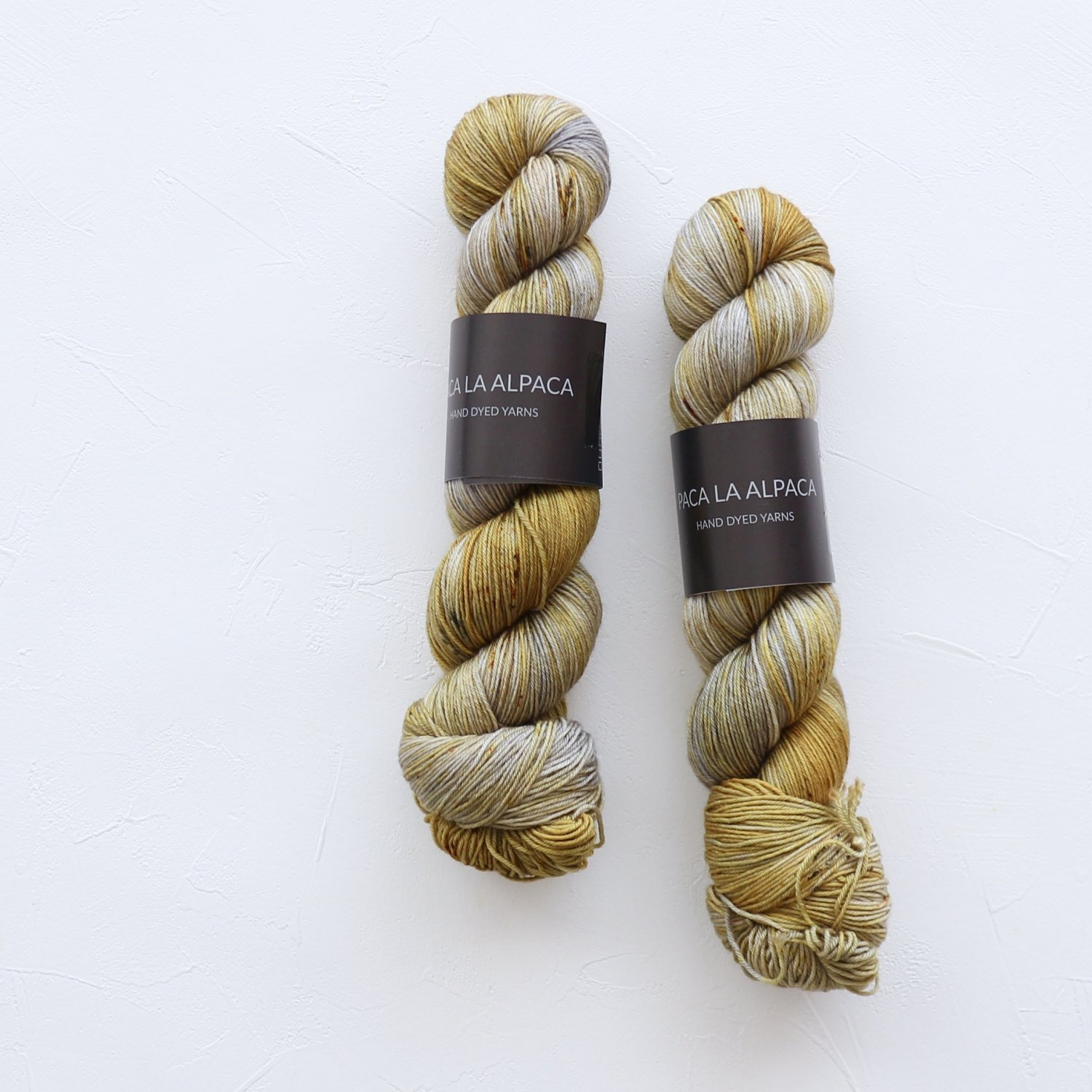 【Paca La Alpaca】<br>Superwash Merino Sock 4Ply<br>Silvered Gold