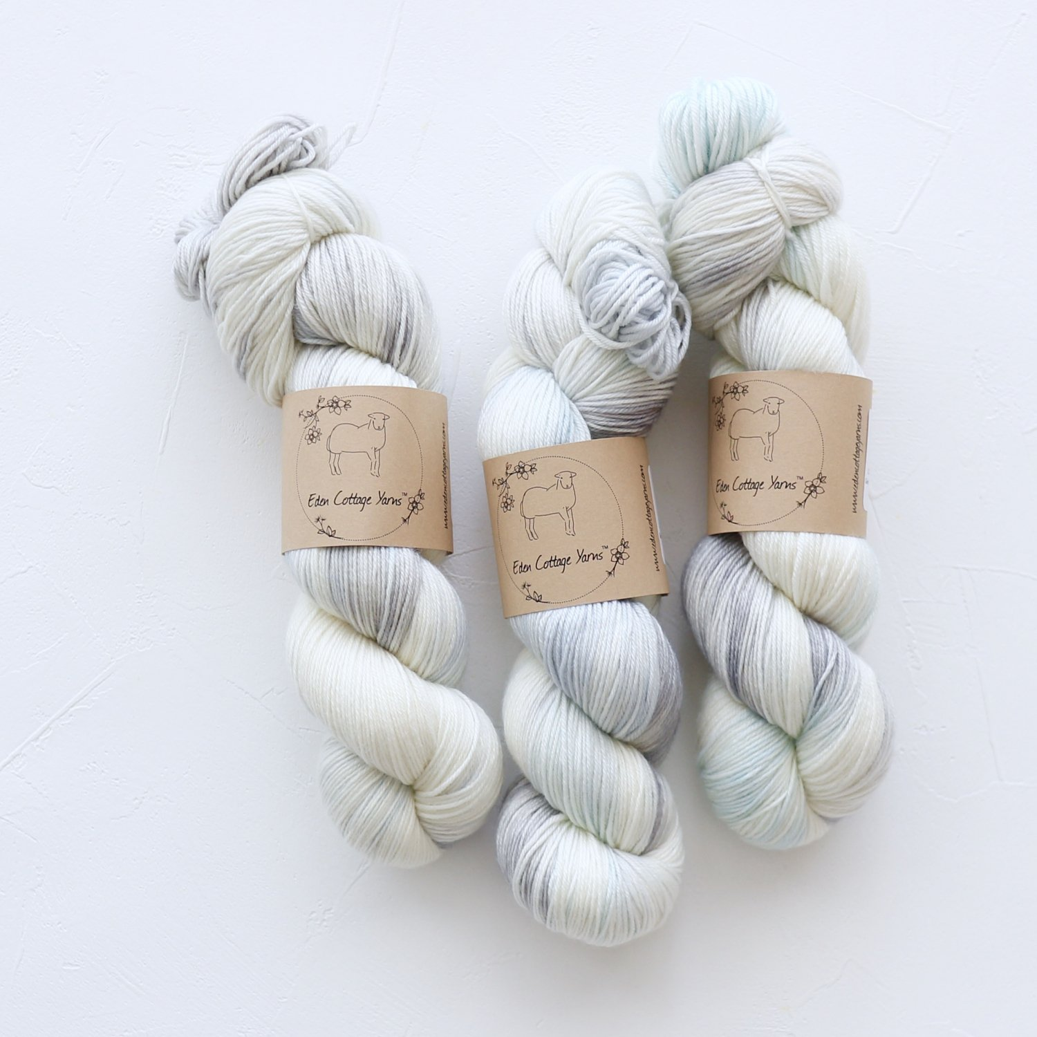 【Eden Cottage Yarns】<br>Pendle 4ply<br>Snowfall