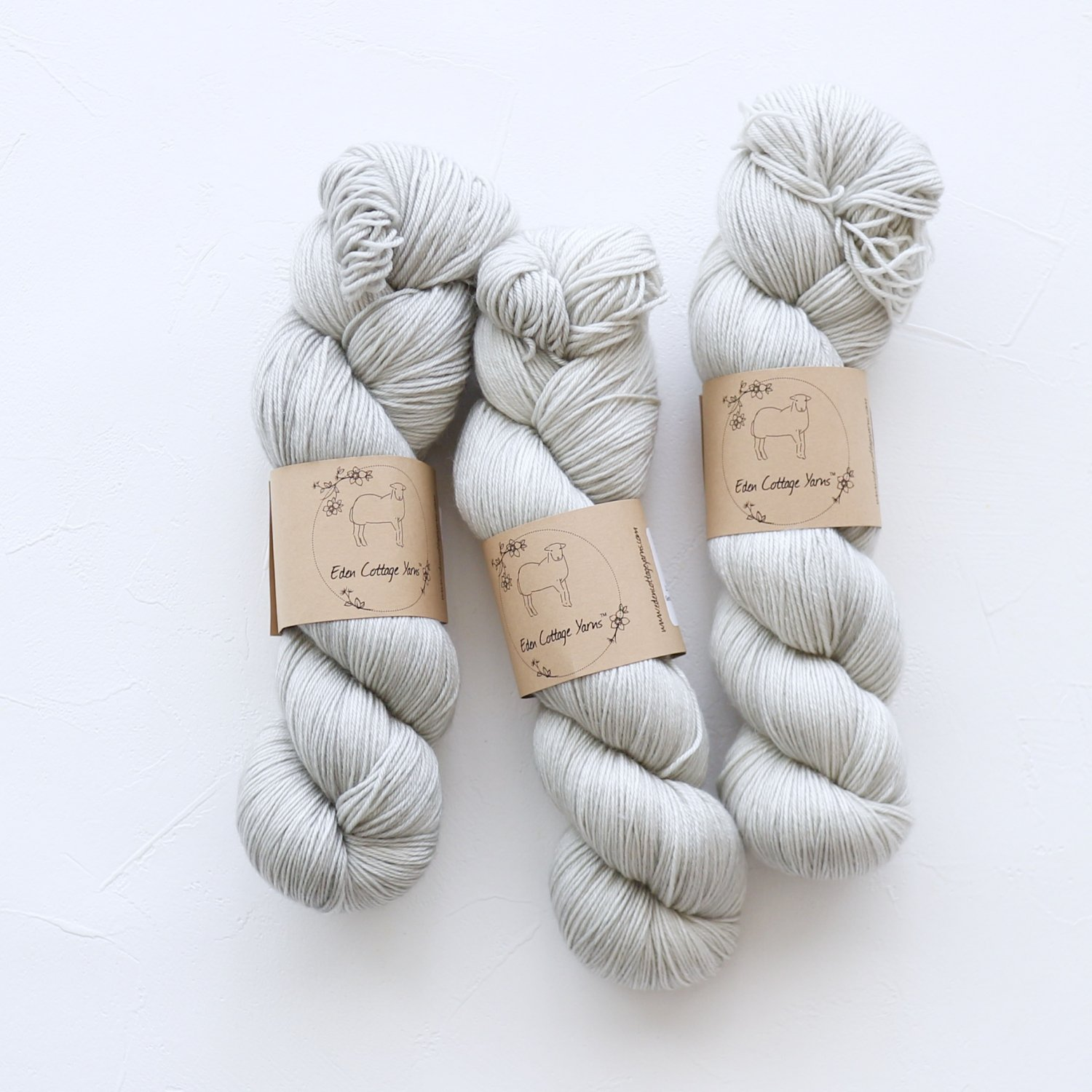 【Eden Cottage Yarns】<br>Pendle 4ply<br>Steel