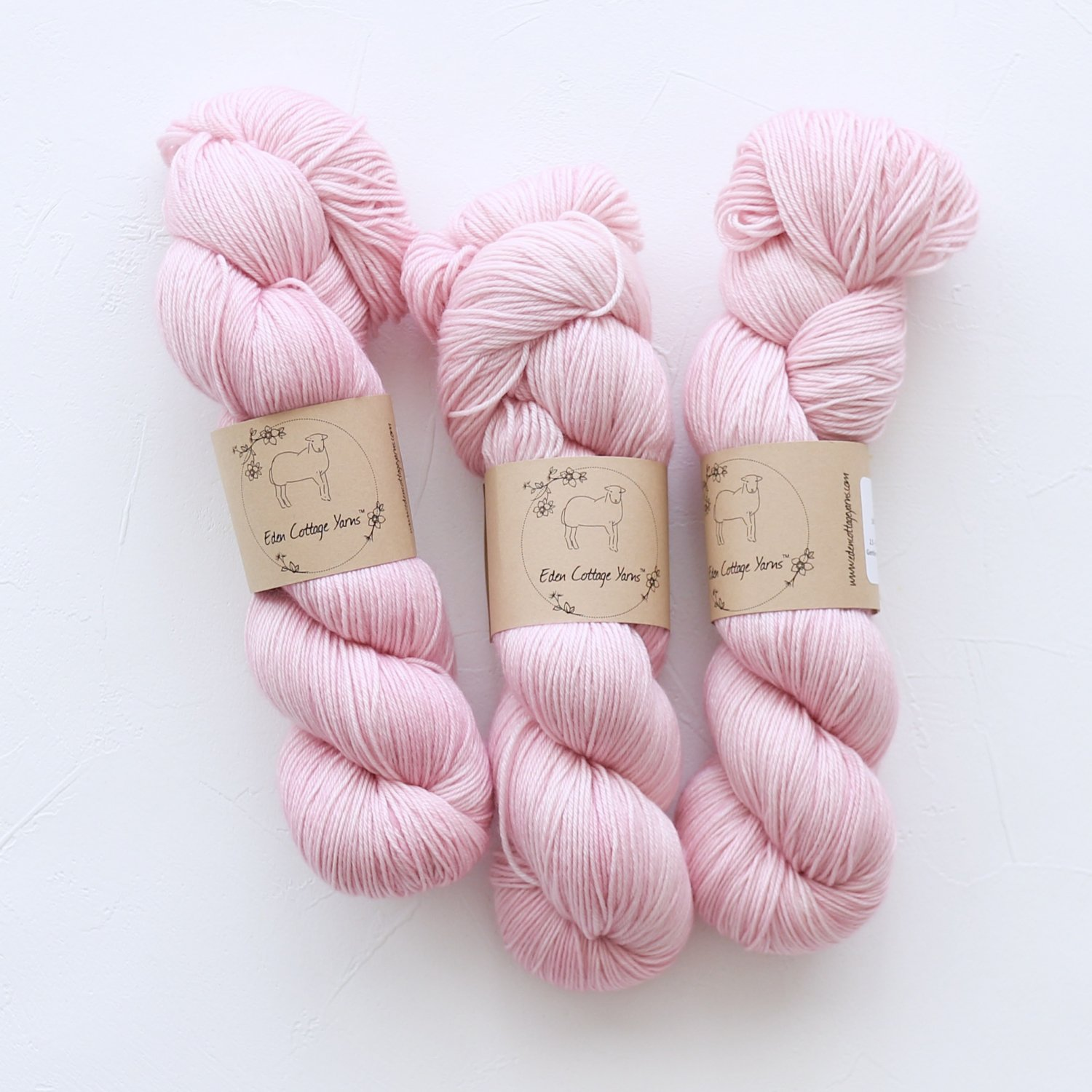【Eden Cottage Yarns】<br>Pendle 4ply<br>Blossom