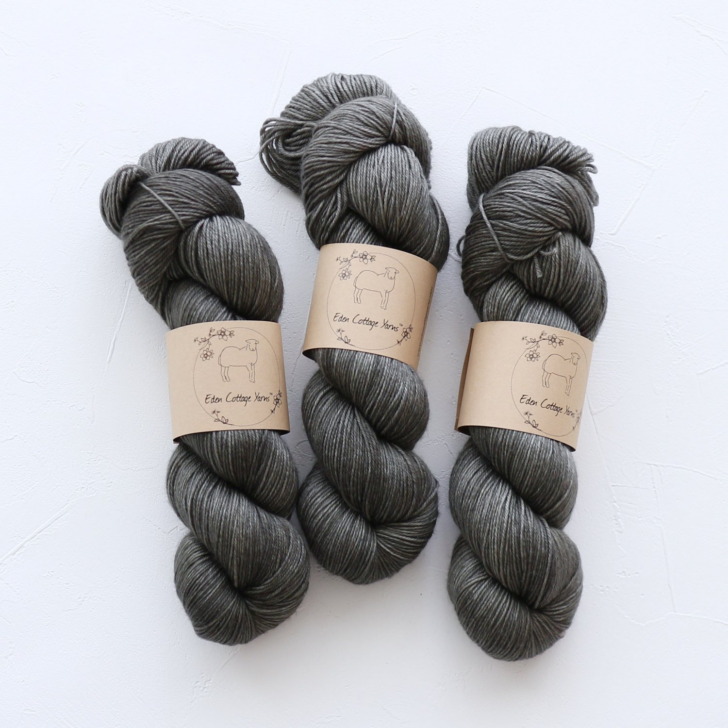 【Eden Cottage Yarns】<br>Pendle 4ply<br>Charcoal