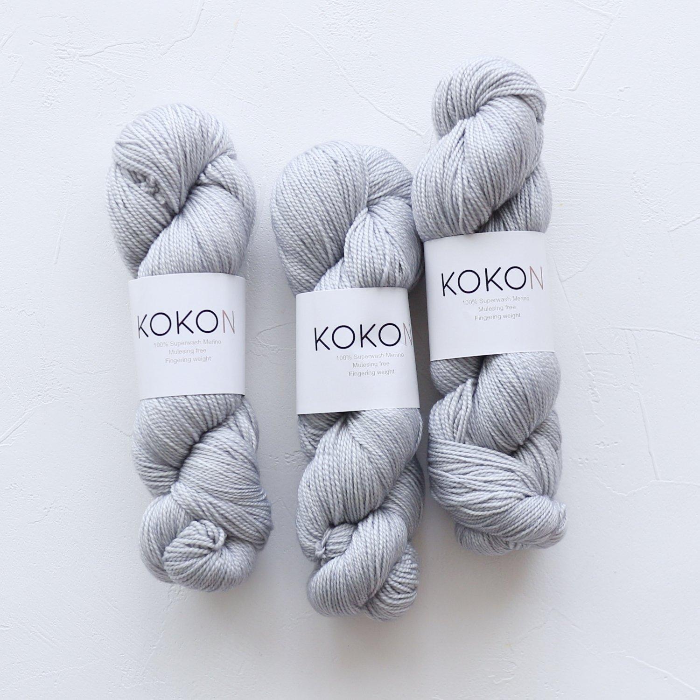 【KOKON yarn】<br>Fingering Merino<br>DEW