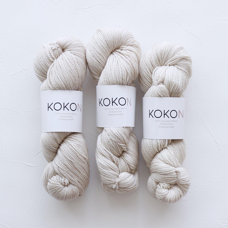 【KOKON yarn】<br>Fingering Merino<br>FOG