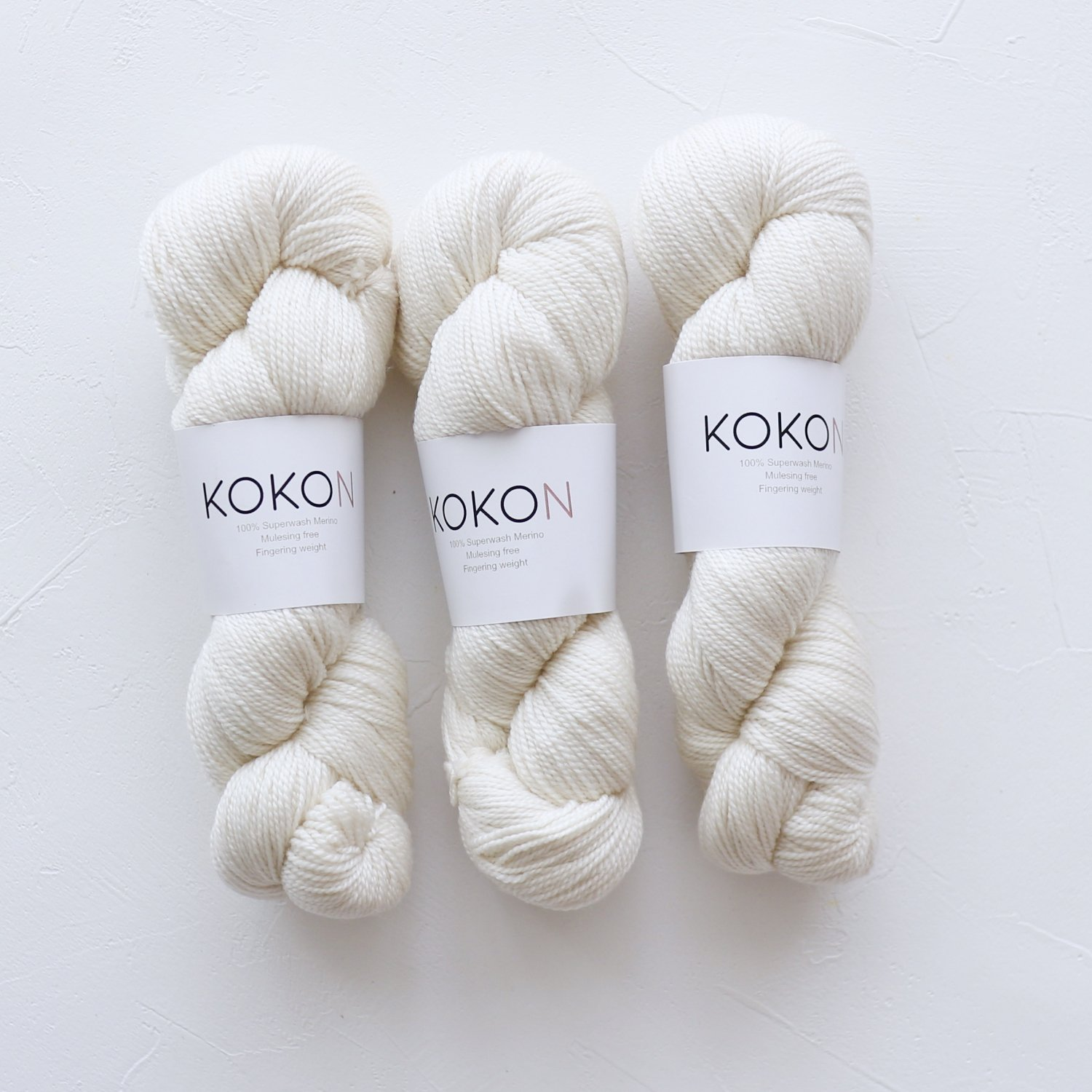 【KOKON yarn】<br>Fingering Merino<br>ICE