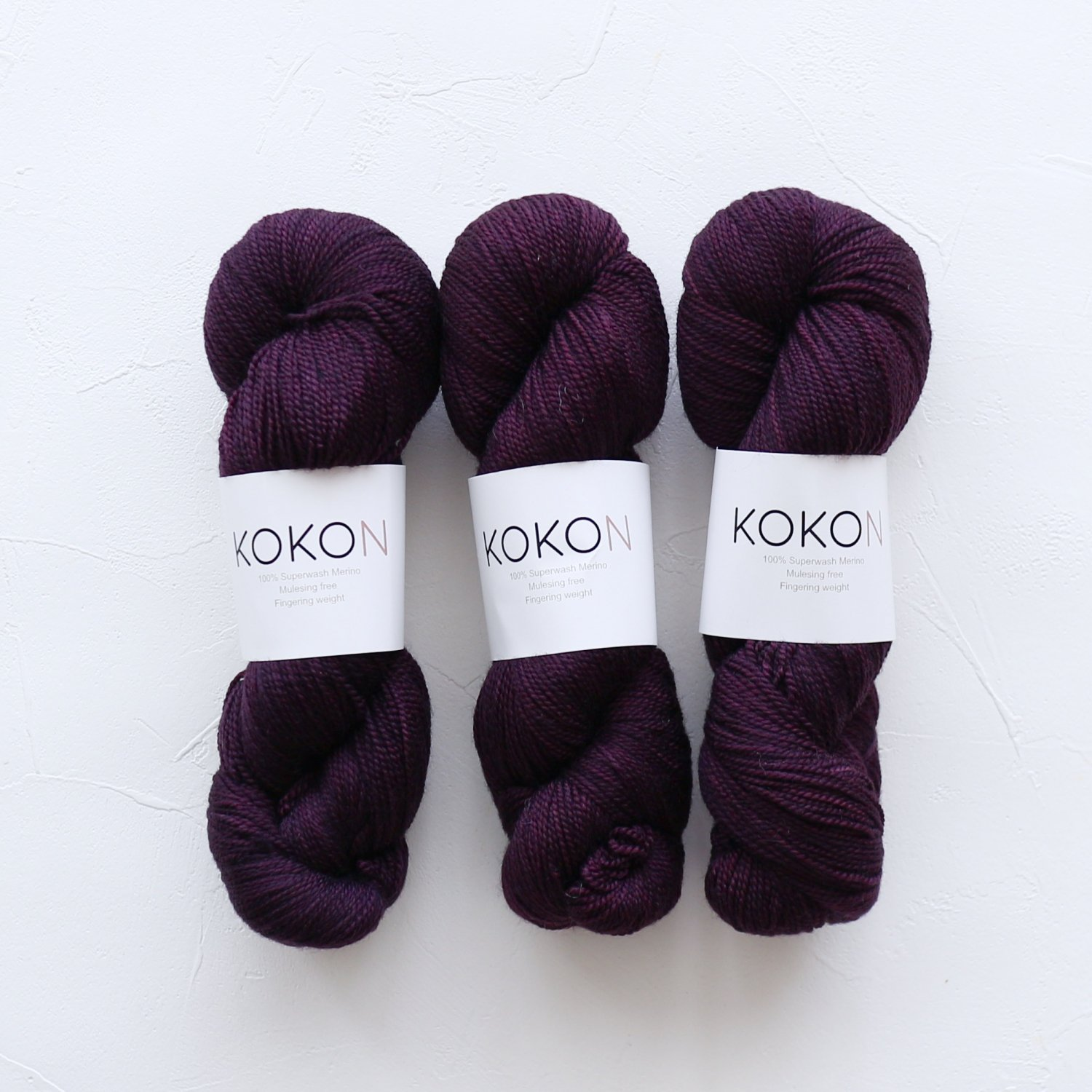 【KOKON yarn】<br>Fingering Merino<br>ROCK