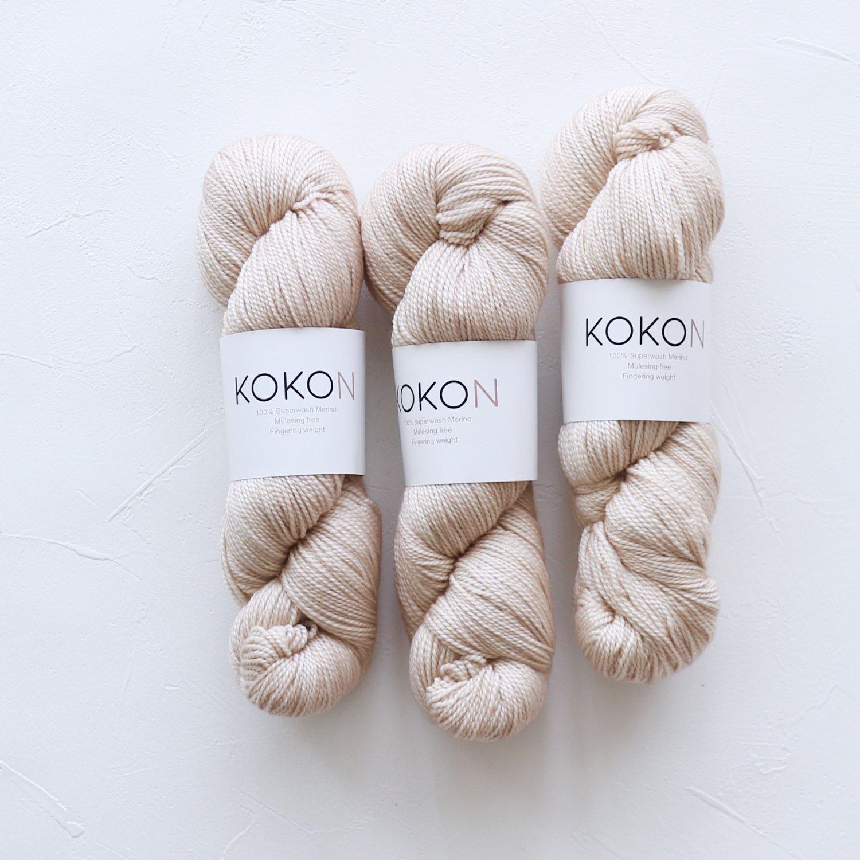 【KOKON yarn】<br>Fingering Merino<br>STONE