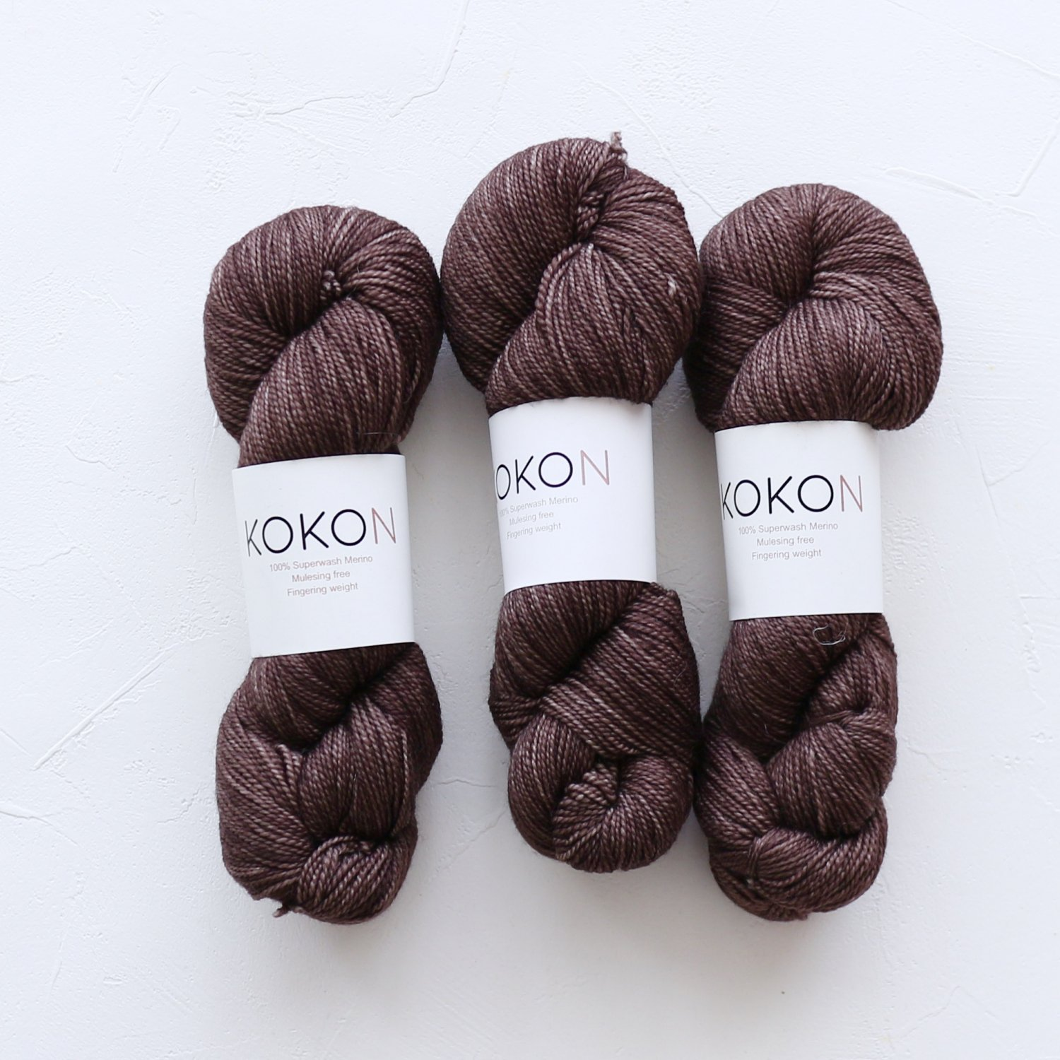 【KOKON yarn】<br>Fingering Merino<br>SMOKE
