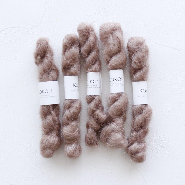 【KOKON yarn】<br>CHUNKY MOHAIR MINISKEIN<br>CORK