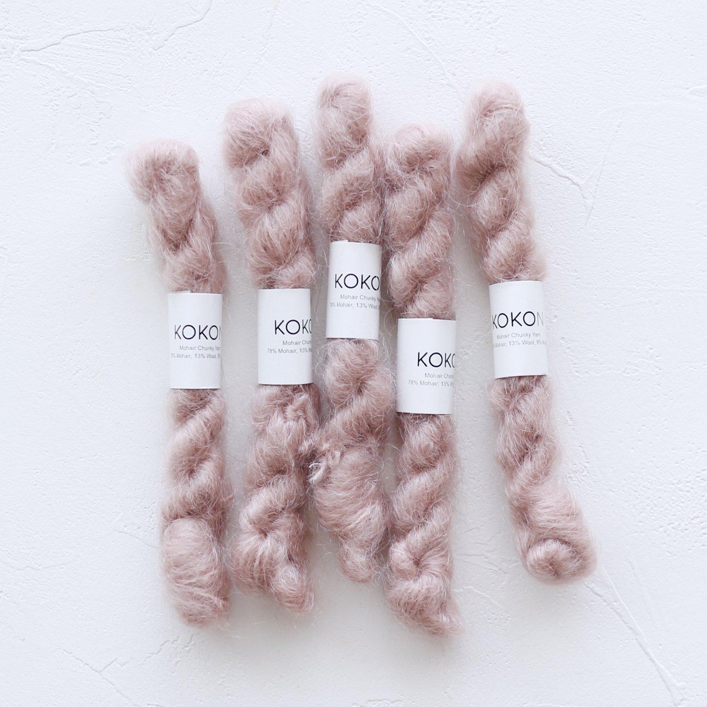 【KOKON yarn】<br>CHUNKY MOHAIR MINISKEIN<br>CLAY
