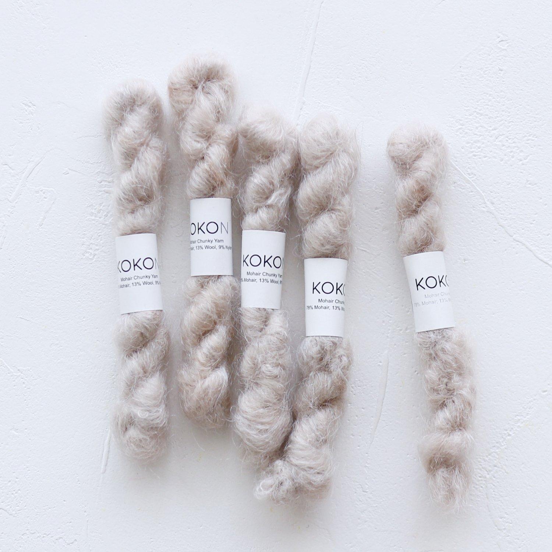 【KOKON yarn】<br>CHUNKY MOHAIR MINISKEIN<br>MOON