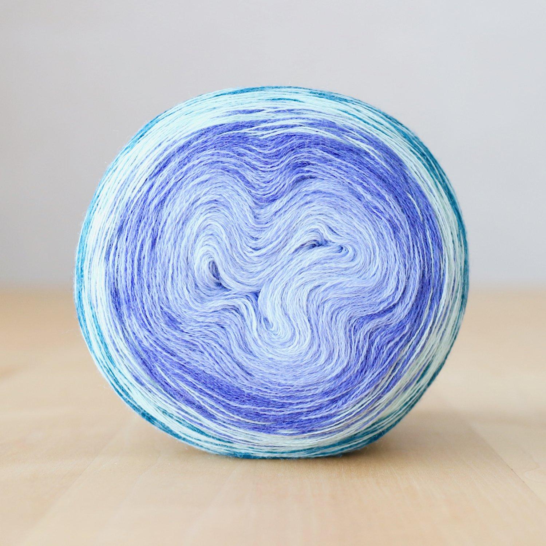 【Jolly knits】<br>Gradient Yarn Merino 3PLY(1000m)<br>MISS GRAPE
