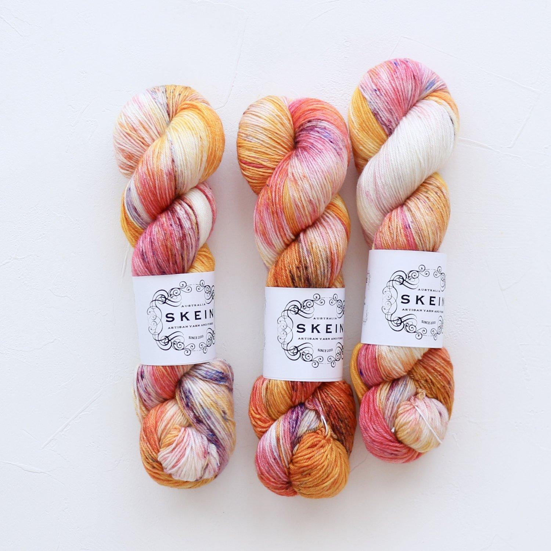 【Skein Yarn】<br>Merino Cashmere Fingering<br>Sugar