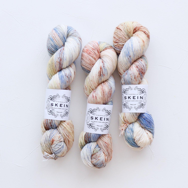 【Skein Yarn】<br>Merino Cashmere Fingering<br>Wattle