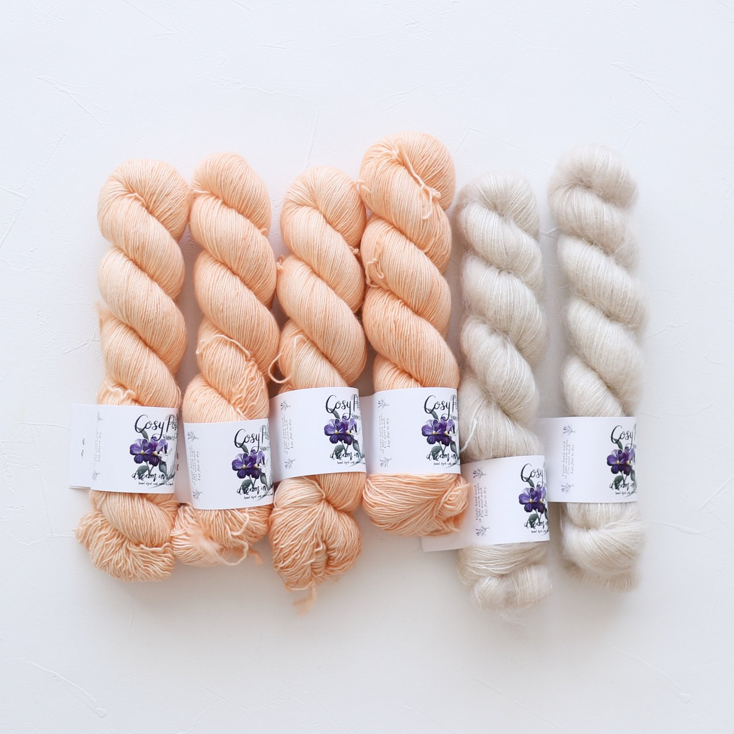 【「Nuvola」色合わせセット】<br>Cosy Posy Yarn<br>Drop Candy Kセット(Mサイズ)