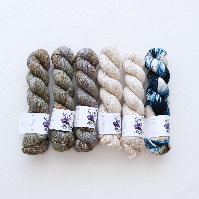 【「Ember Sweater」色合わせセット】<br>Cosy Posy Yarn SOFT & COSY<br>Hセット(長袖 L/XLサイズ)