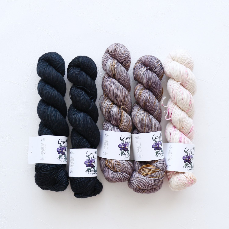 【「Ember Sweater」色合わせセット】<br>Cosy Posy Yarn SOFT & COSY<br>Nセット(長袖 S/Mサイズサイズ)