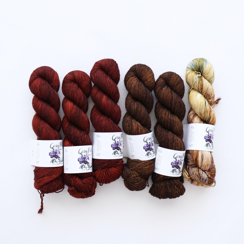 【「Ember Sweater」色合わせセット】<br>Cosy Posy Yarn CLOUD<br>【8】(長袖 L/XLサイズ)