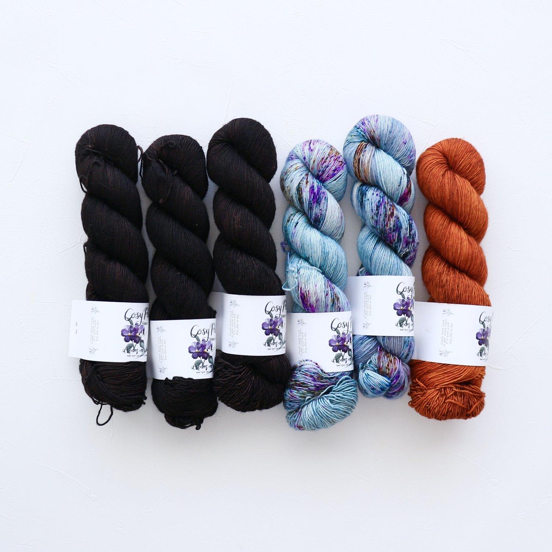 【「Ember Sweater」色合わせセット】<br>Cosy Posy Yarn CLOUD<br>【9】(長袖 L/XLサイズ)