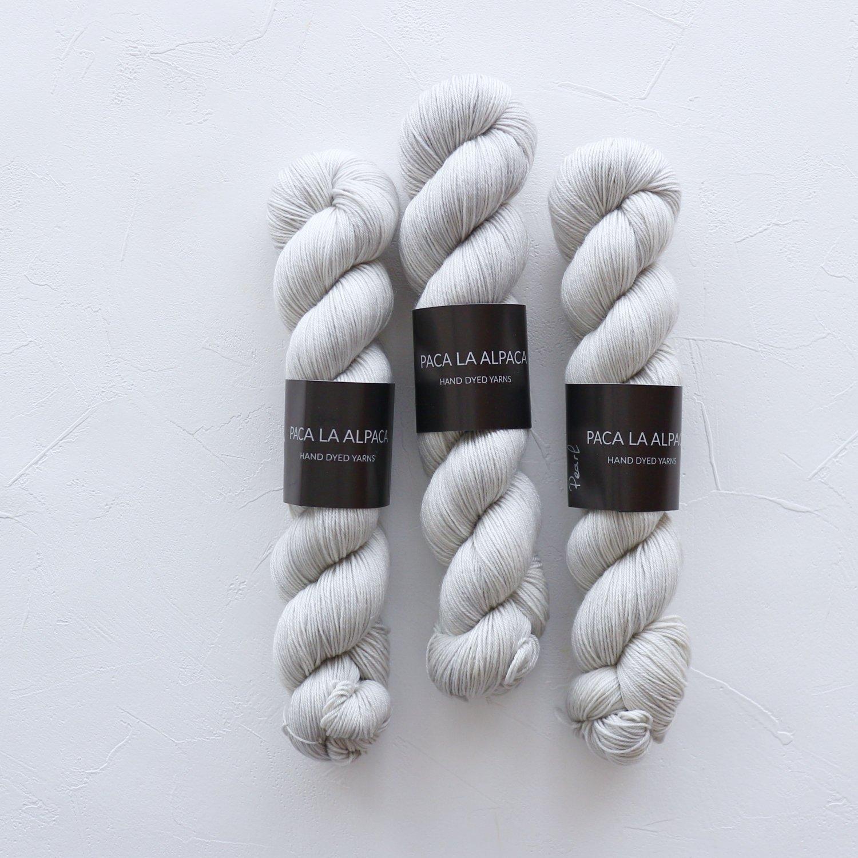 【Paca La Alpaca】<br>Superwash Merino Sock 4Ply<br>Pearl