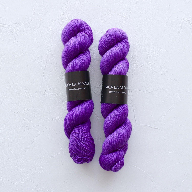 【Paca La Alpaca】<br>Superwash Merino Sock 4Ply<br>Ultraviolet