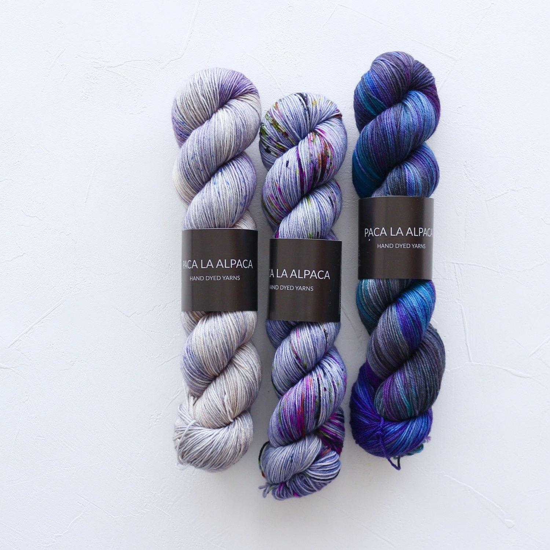 【「Mebuki」フェードセット】<br>Superwash Merino Sock 4Ply<br>青い池(サイズ1)