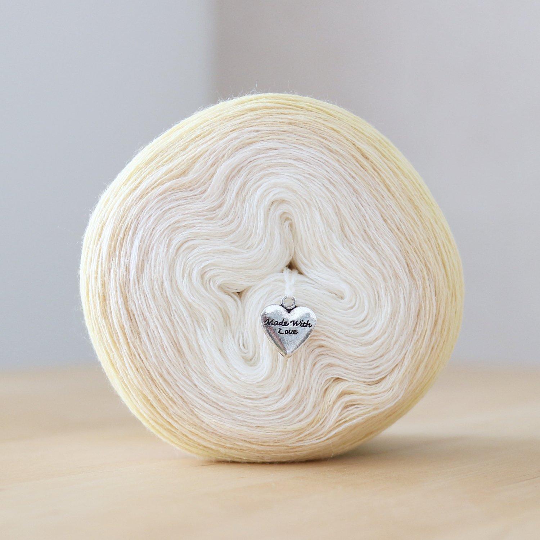 【Jolly knits】<br>Gradient Yarn Merino 3PLY(1000m)<br>LEMON JUICE