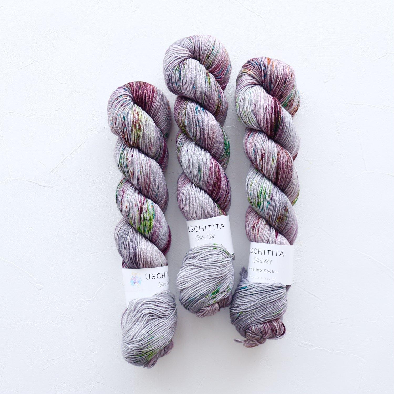 【uschitita】<br>Merino Sock<br>Babu F.