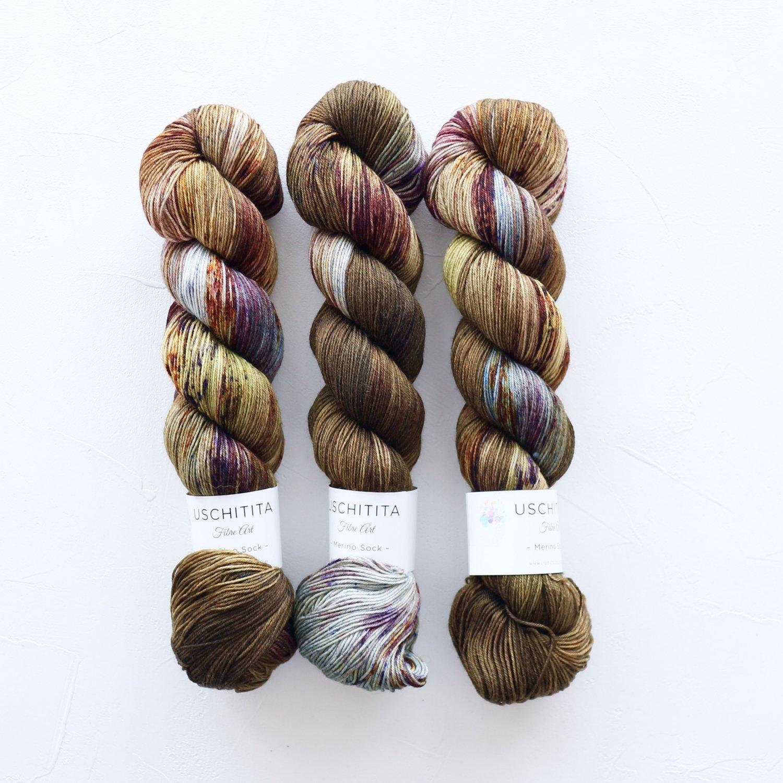 【uschitita】<br>Merino Sock<br>Backwoods