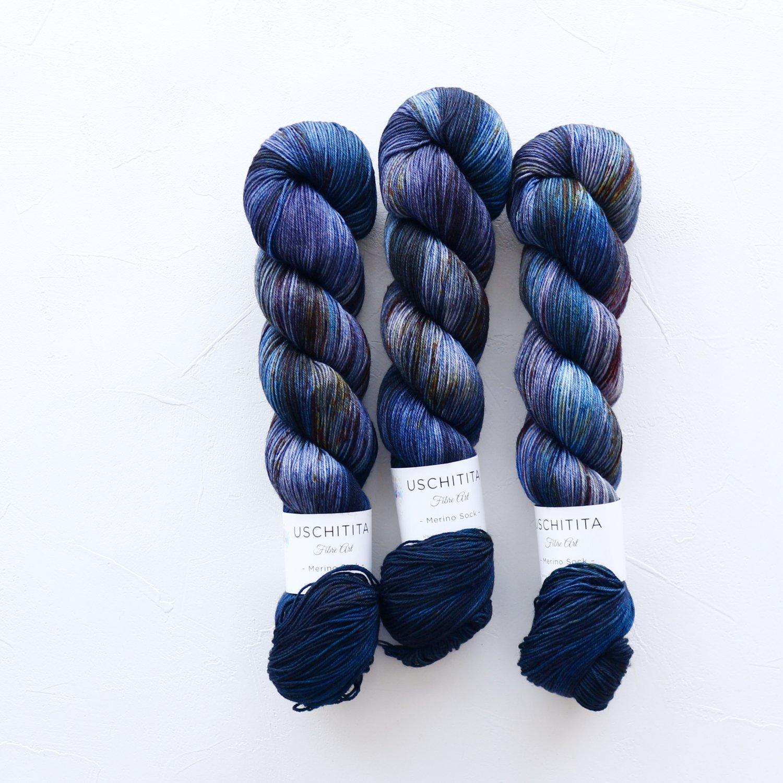 【uschitita】<br>Merino Sock<br>Midnight