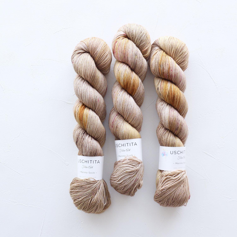 【uschitita】<br>Merino Sock<br>Amygdala