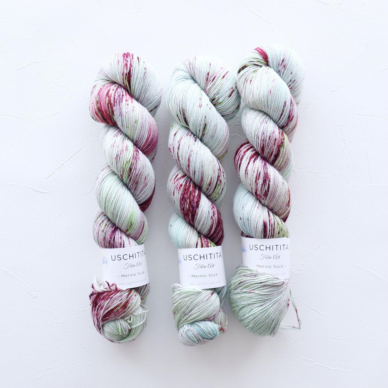 【uschitita】<br>Merino Sock<br>Appletini