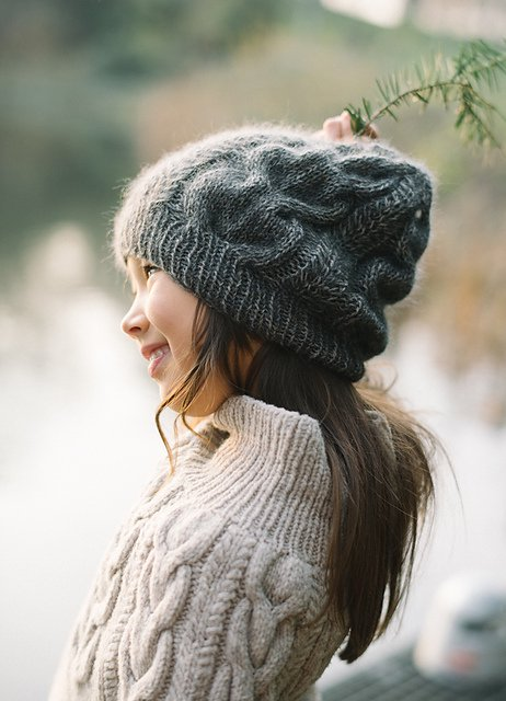 【PDF】 Snowy Flower Hat by Midori Hirose