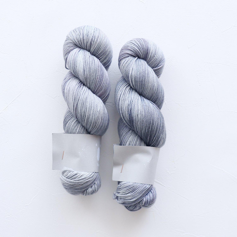 【Qing Fibre】<br>Merino Fingering<br>Titanium