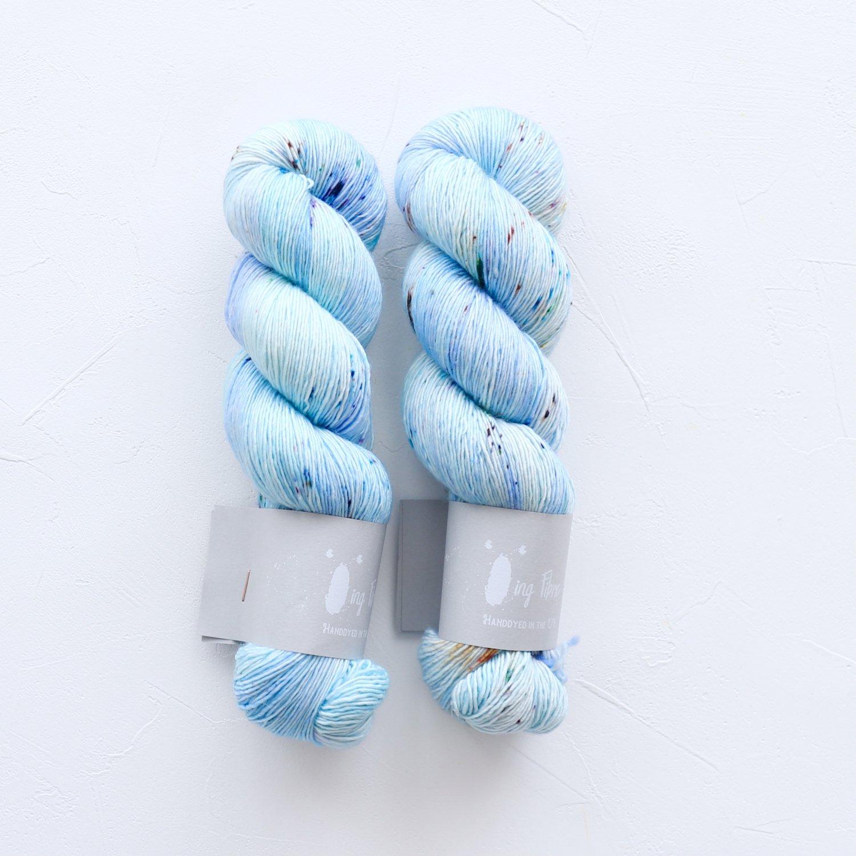 【Qing Fibre】<br>Merino Singles<br>Sky Blue