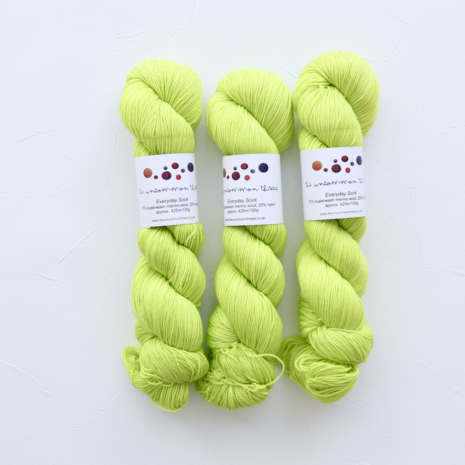 【The Uncommon Thread】<br>Everyday Sock<br>Hi-Vis Green