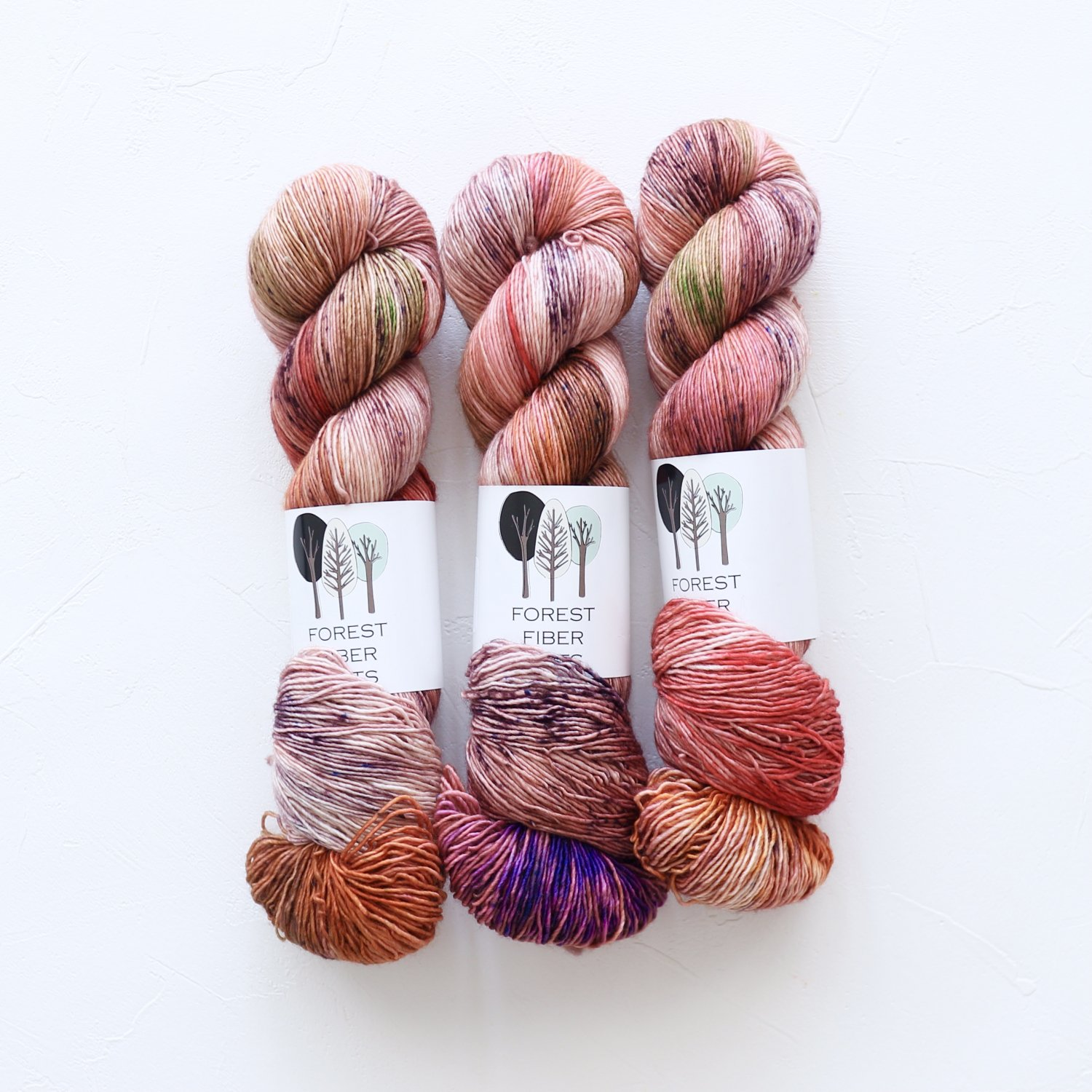 【FOREST FIBER ARTS】<br>MERINO SINGLE PLY SOCK<br>Bright Posy
