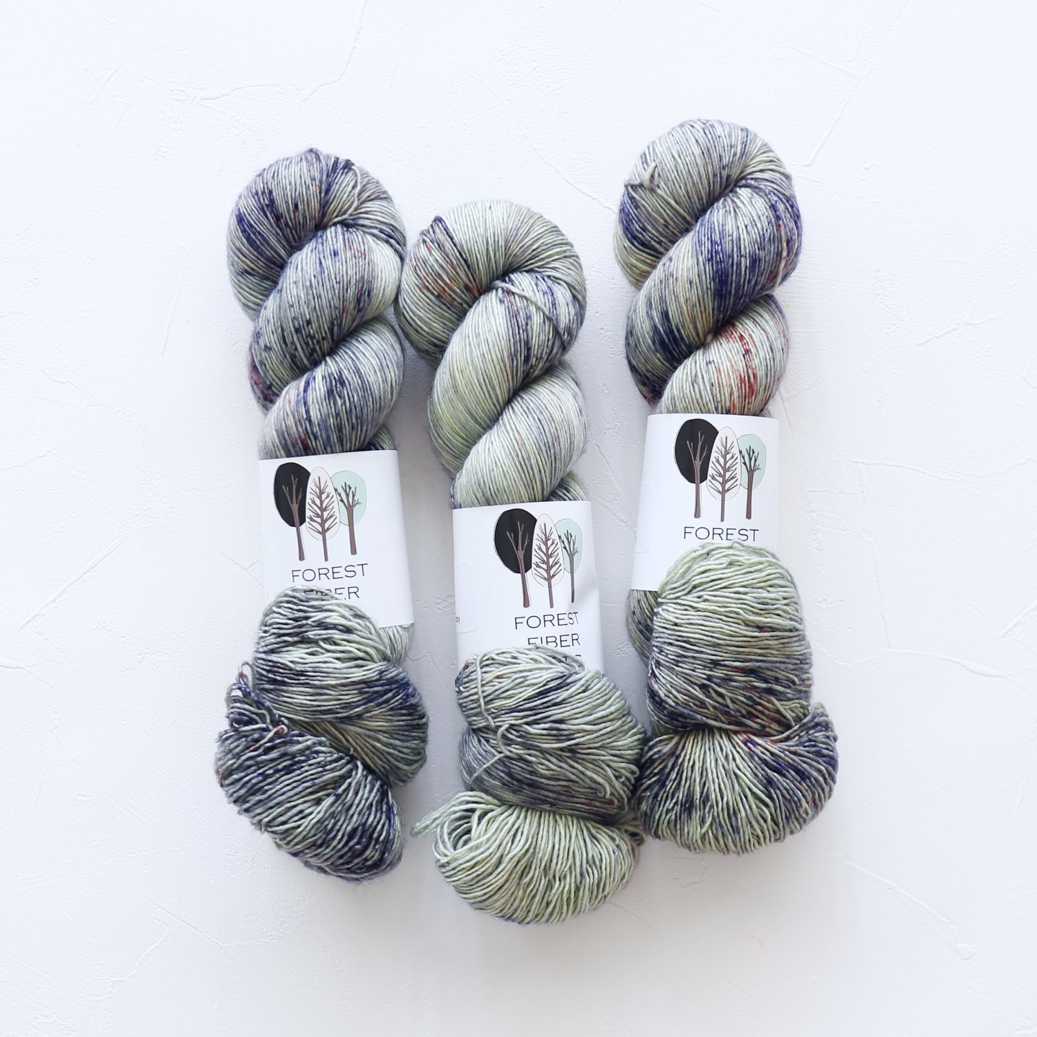 【FOREST FIBER ARTS】<br>MERINO SINGLE PLY SOCK<br>Lake Life