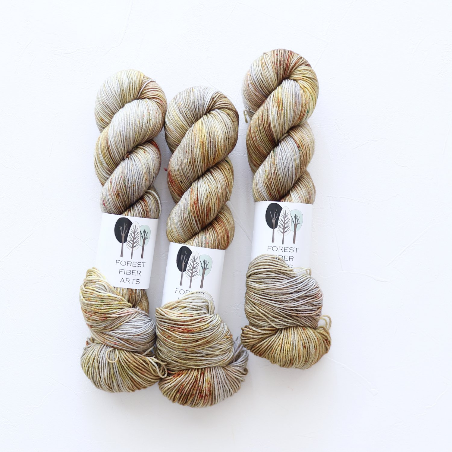 【FOREST FIBER ARTS】<br>MERINO/NYLON 4 PLY SOCK<br>Knight in Rusty Armor
