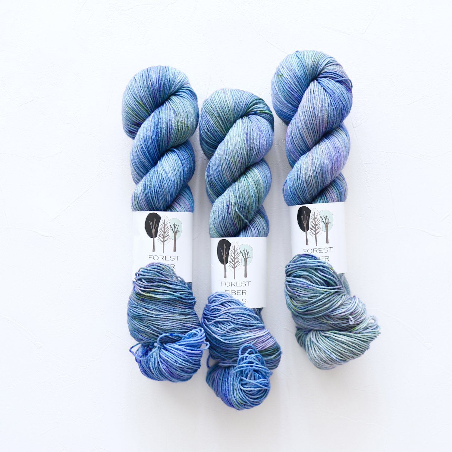【FOREST FIBER ARTS】<br>MERINO/NYLON 4 PLY SOCK<br>Sea Monster