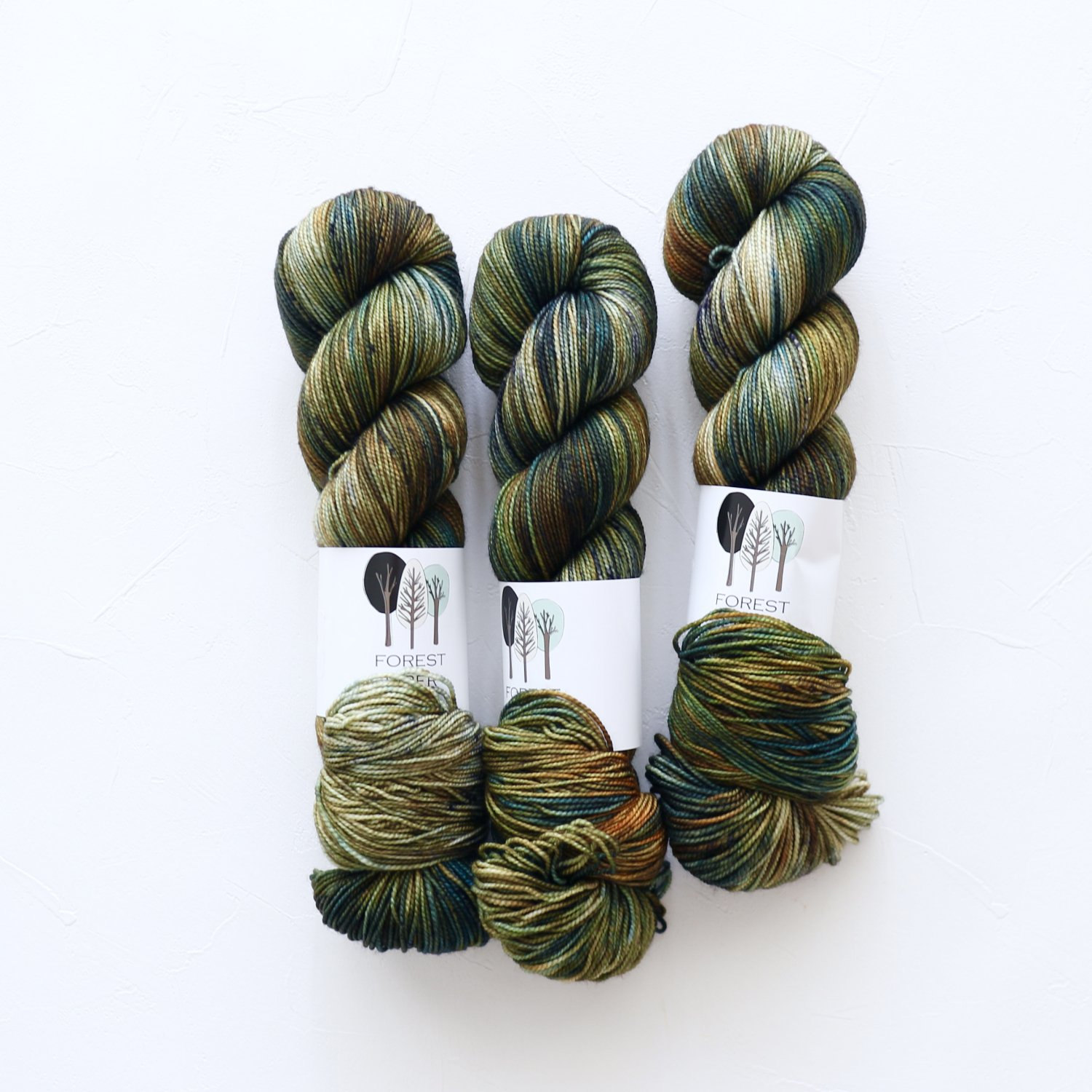 【FOREST FIBER ARTS】<br>MERINO/NYLON 2 PLY SOCK<br>Woodland