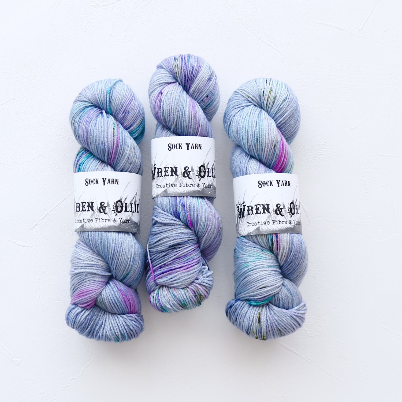 【Wren & Ollie】<br>Sock Yarn<br>Flurry