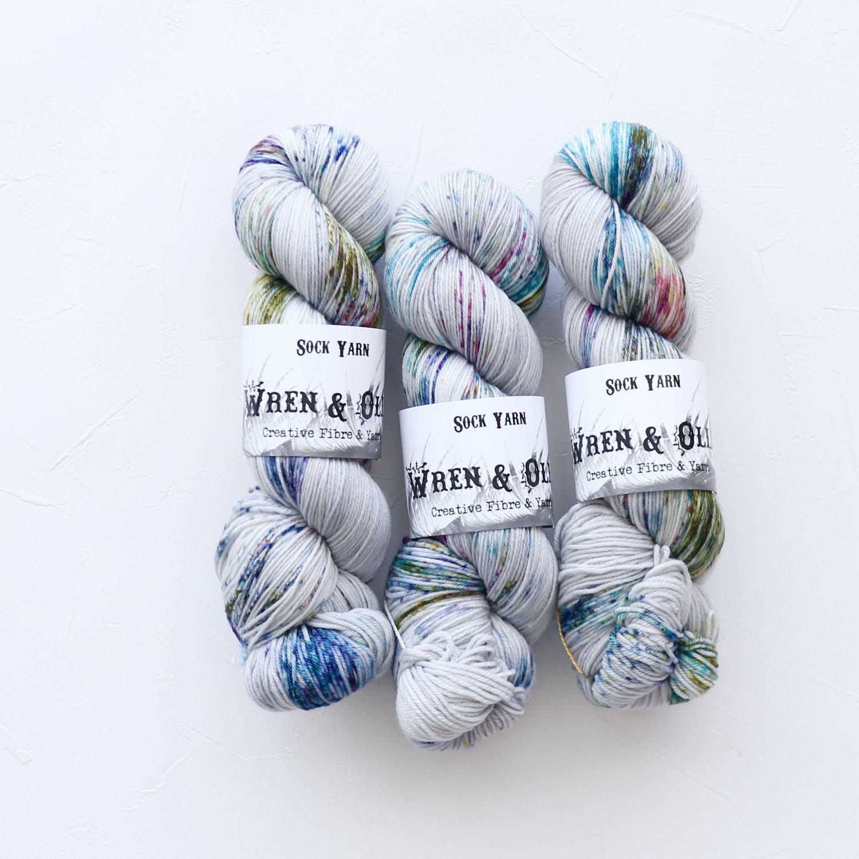 【Wren & Ollie】<br>Sock Yarn<br>Aurora Australis
