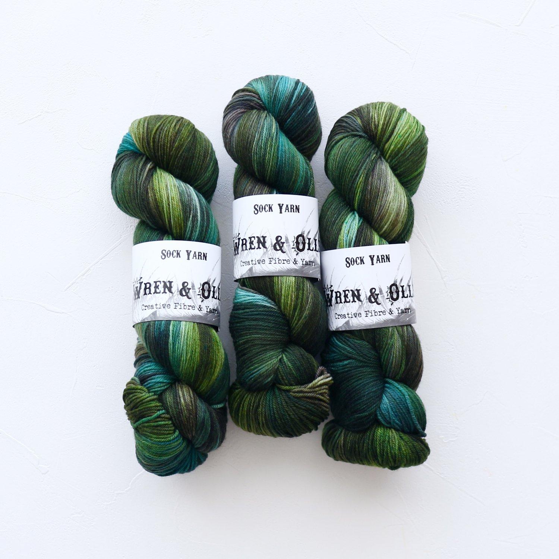 【Wren & Ollie】<br>Sock Yarn<br>Eucalypt