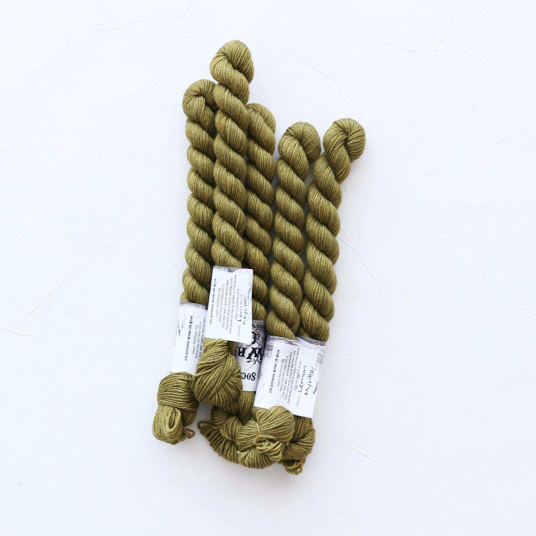 【Wren & Ollie】<br>Sock Yarn mini<br>Lemon Myrtle