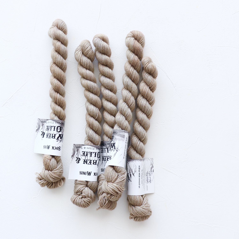 【Wren & Ollie】<br>Sock Yarn mini<br>Smoke House