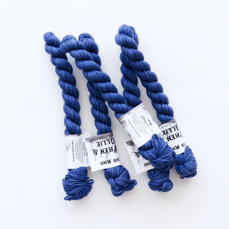【Wren & Ollie】<br>Sock Yarn mini<br>Vintage Blue