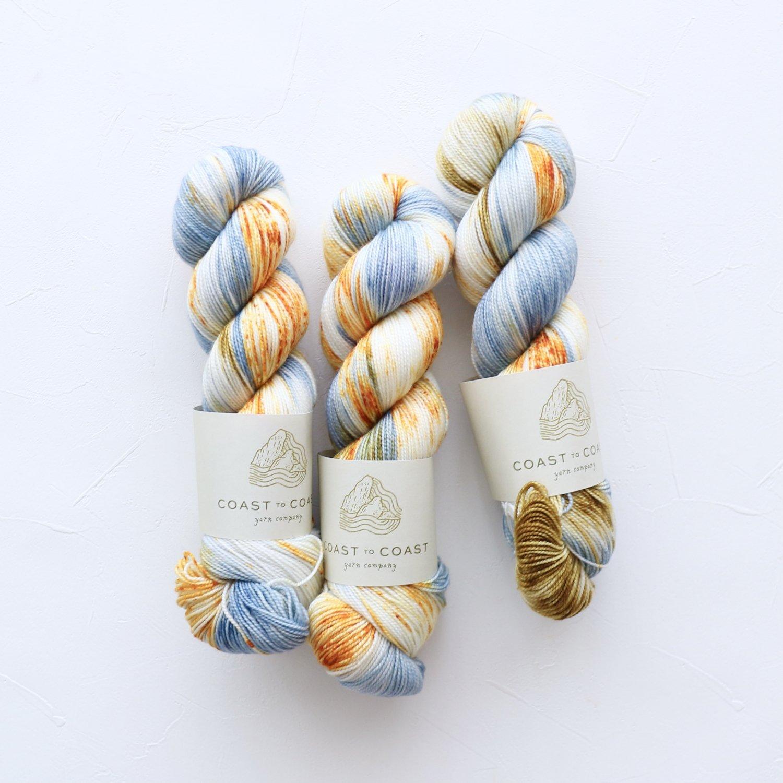 【Coast to Coast Yarn Co】<br>Twist Sock<br>Clear Blue Morning