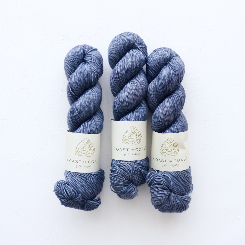 【Coast to Coast Yarn Co】<br>Twist Sock<br>Inkcap