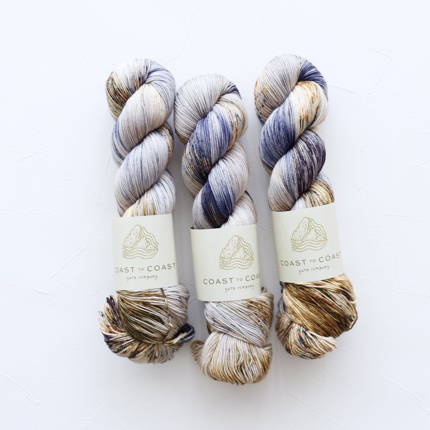 【Coast to Coast Yarn Co】<br>Signature Sock<br>Periwinkle Shell